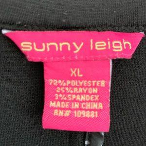Sunny Leigh Jackets & Coats - Sunny Leigh Blazer with Ruffles, Black, XL